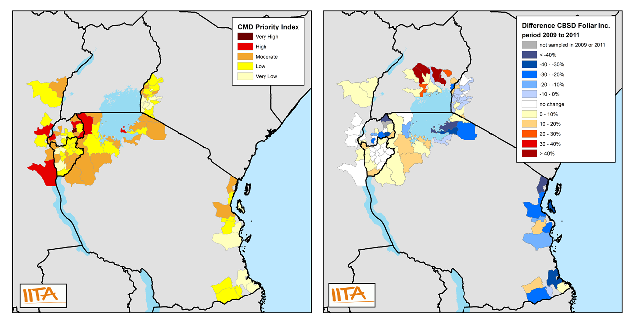 Maps of CMD priority and CBSD temporal difference